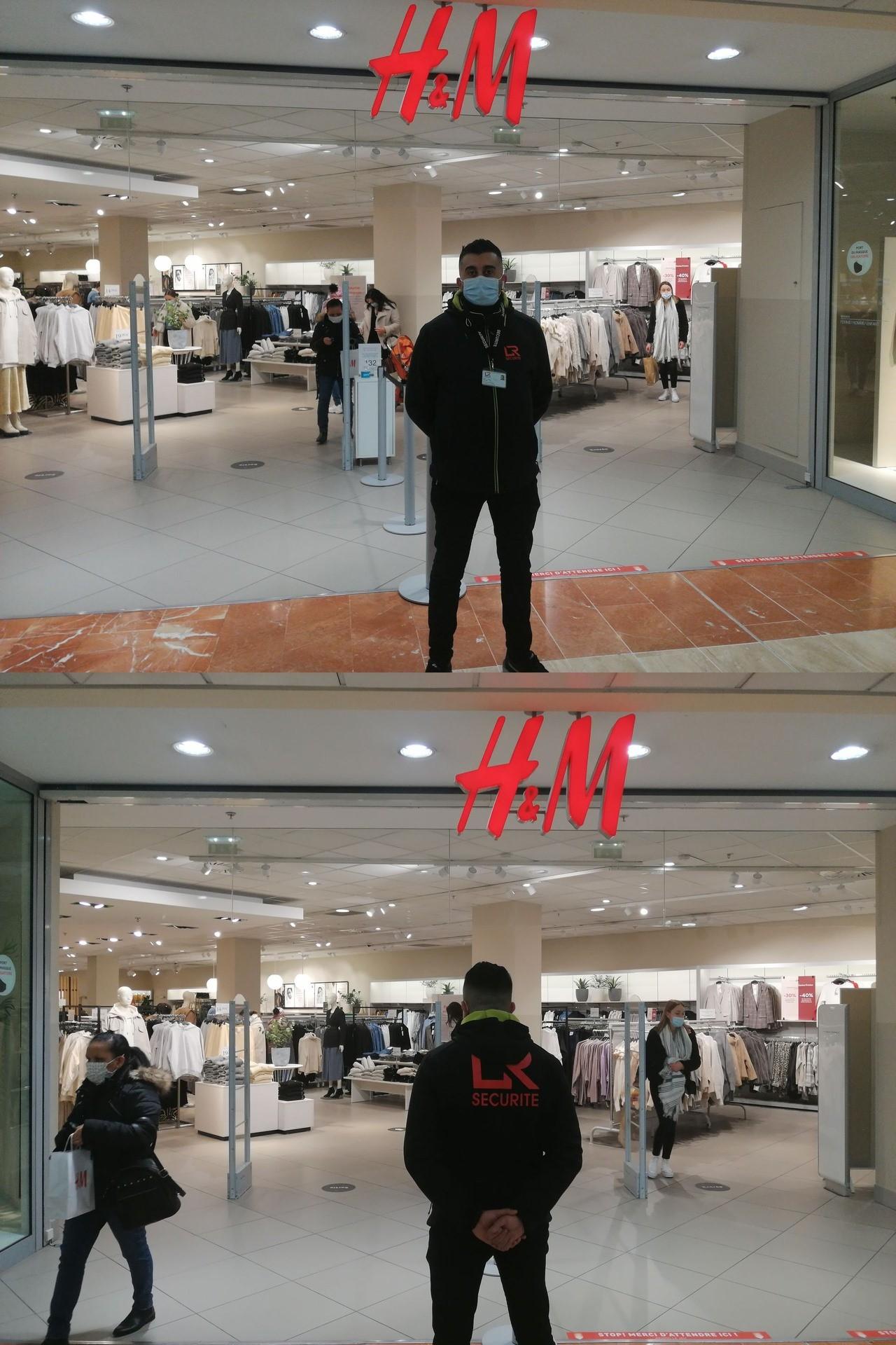 Agent de sécurité à H&M